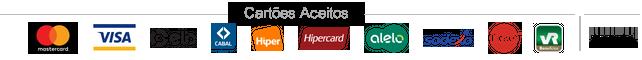 Cartões aceitos